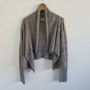 Vince Wool Blend Open Front Crop Cardigan Sweater
